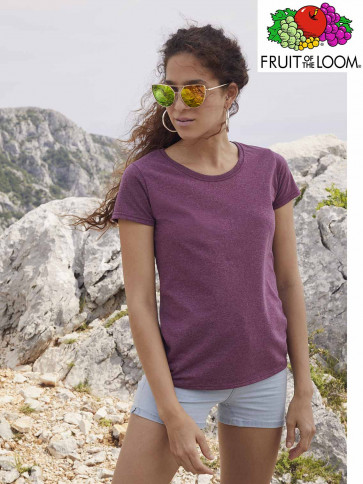 T-SHIRT VALUEWEIGHT 61372 GIROCOLLO DONNA