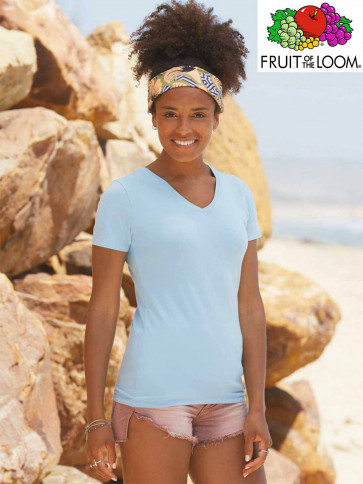 T-SHIRT LADY FIT 61382 COLLO V DONNA
