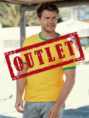 OUTLET T- SHIRT UOMO 61168 WALUEWEIGHT RINGER GR.165 MANICA CORTA