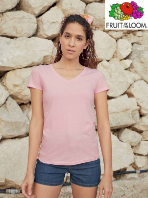 T-SHIRT VALUEWEIGHT 61398 COLLO V DONNA
