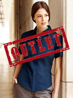 OUTLET CAMICIA DONNA 65000 OXFORD LADY FIT GR.135 MANICA CORTA