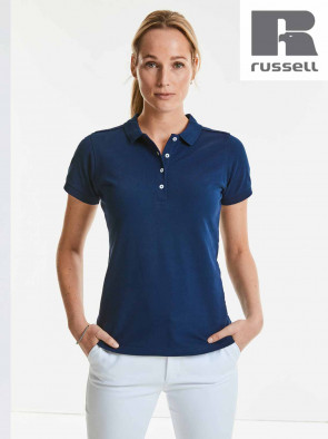 POLO STRETCH DONNA 566F MANICA CORTA